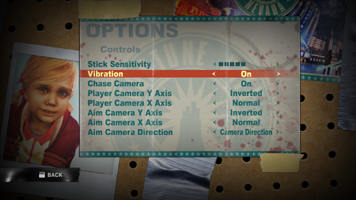 Dead Rising 2's 'Controls' Menu